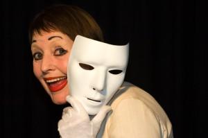 Dagmar Dark als Pantomimin