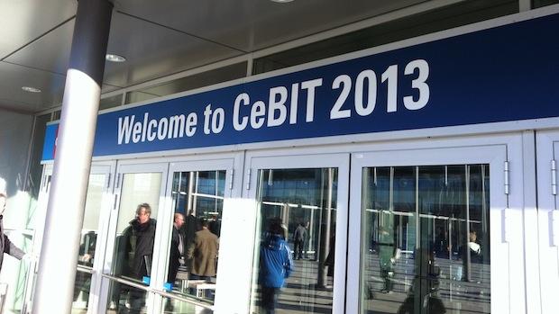Der Eingang zur CeBIT 2013
