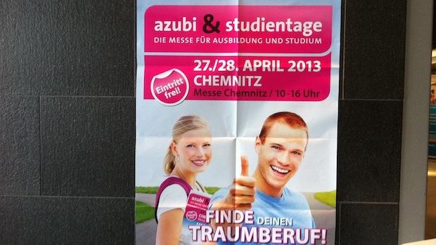 Plakat für die nächste Veranstaltung
