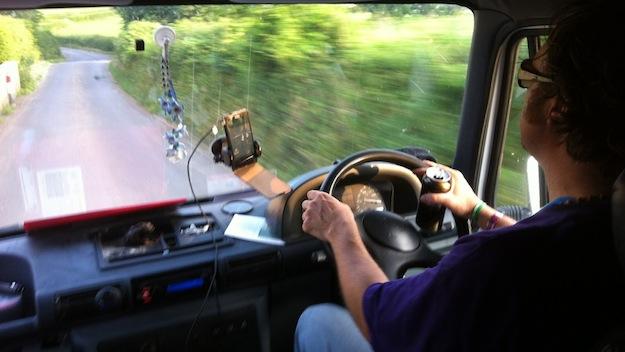 Glastonbury Festival 2013 Autofahrt