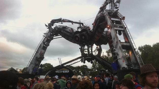 Die Riesen-Metall-Spinne im Arcadia