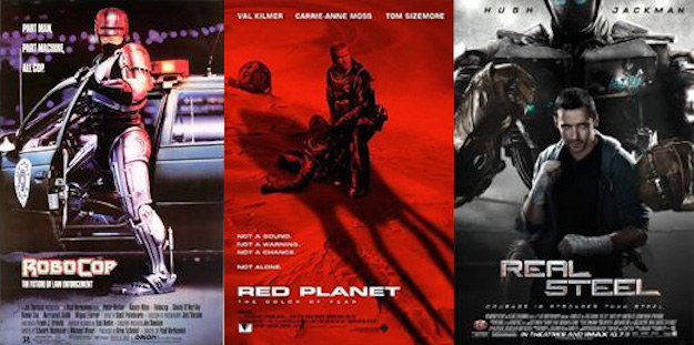 Roboterfilme Robocop, red planet, real steal