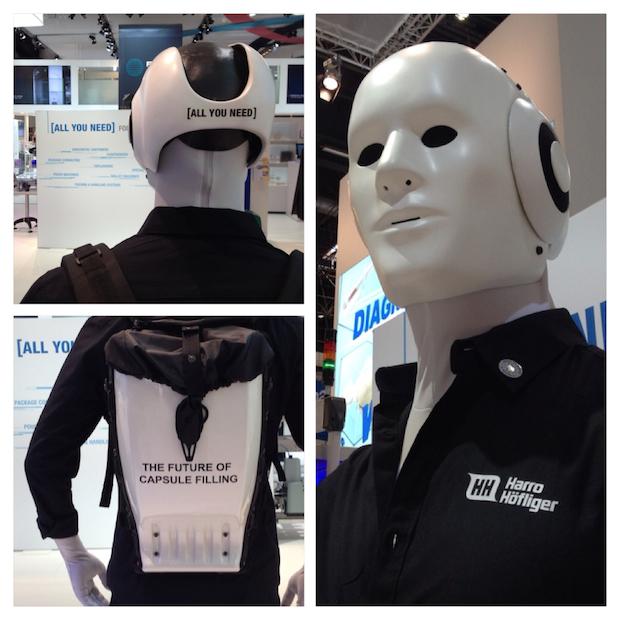 Branding Harro Höfliger auf Roboter Maschinenmensch