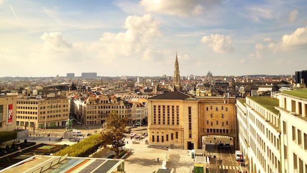 Aussicht über Brüssel von der Location