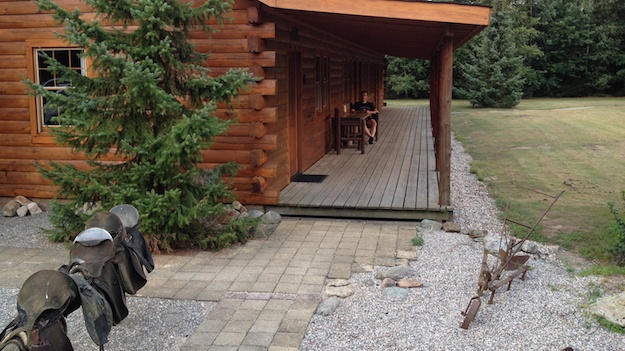 Unterkunft in urgemütlicher Blockhütte
