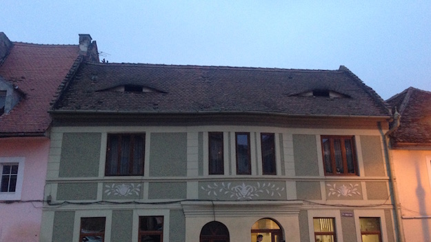 Sibiu Häuser mit Augen der Stadt hermannstadt