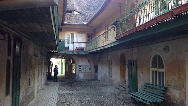 Sibiu Hermannstadt Hinterhof