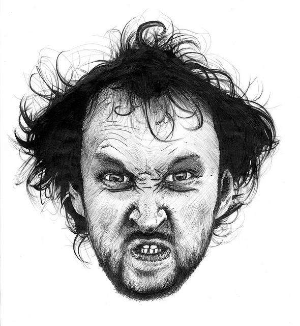 Wütendes Gesicht von Jelle