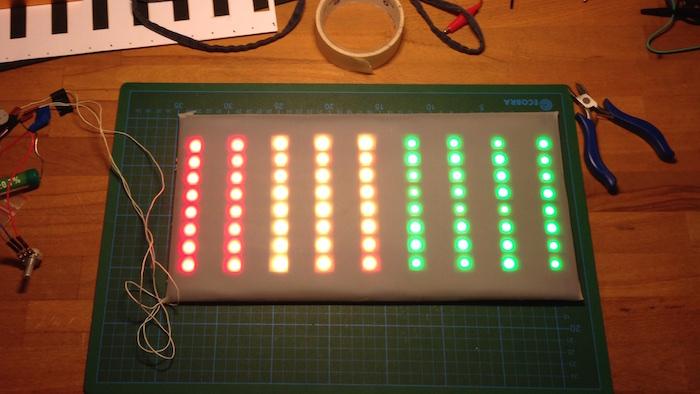 Matrix Test in Rot, Gelb und Grün