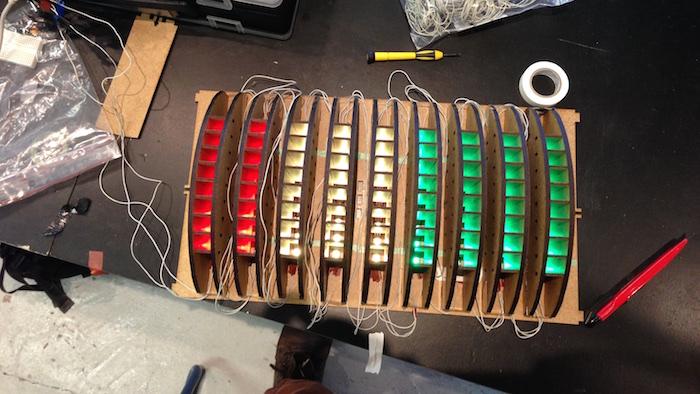 Version 1 mit tief eingelassenen LEDs