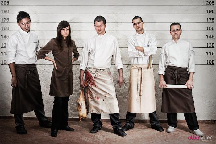 Waiters from Alba Soler
