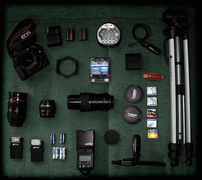 Die Ausrüstung steht bereit