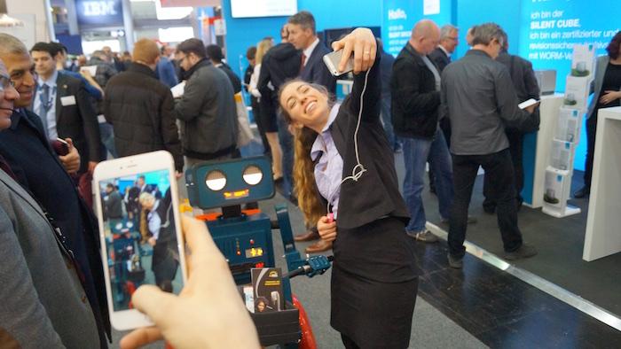Selfie mit Hugo: immer beliebt
