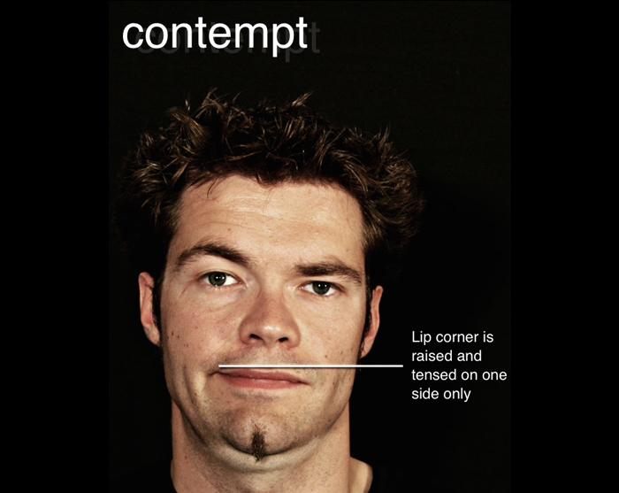 micro expression contempt