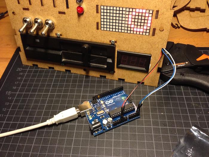 Arduino steuert Bauchdisplay