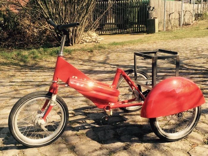 Dreirad rot lackiert ohne kiste