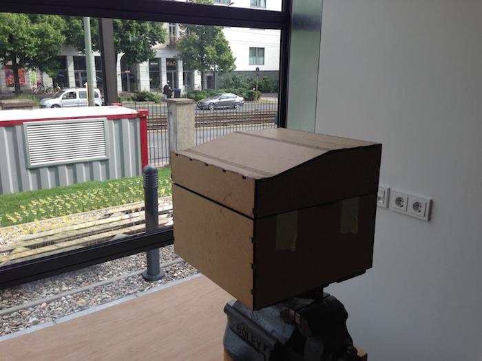 Kiste Abdeckung MDF hinten