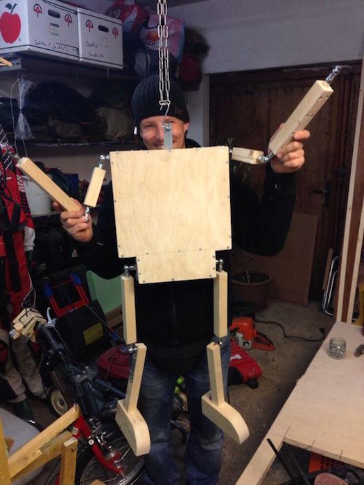 Roboter dummy puppe für dreirad aus holz