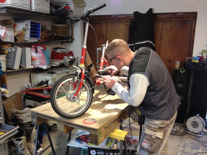 flexen Mittelstrebe fahrrad stahl profil von vorn