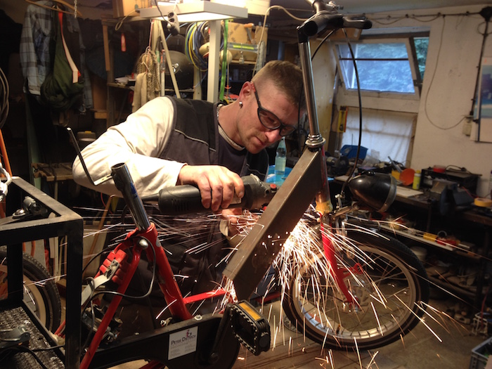 flexen Mittelstrebe fahrrad stahl profil