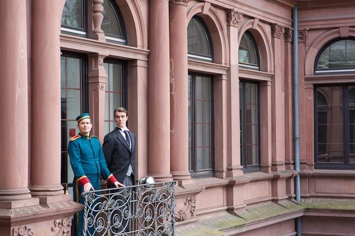 Auf dem Balkon des Frankfurter Presseclubs