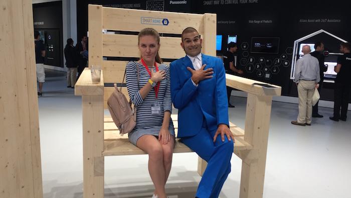 Ein übergroßer Stuhl für Fotoaktionen