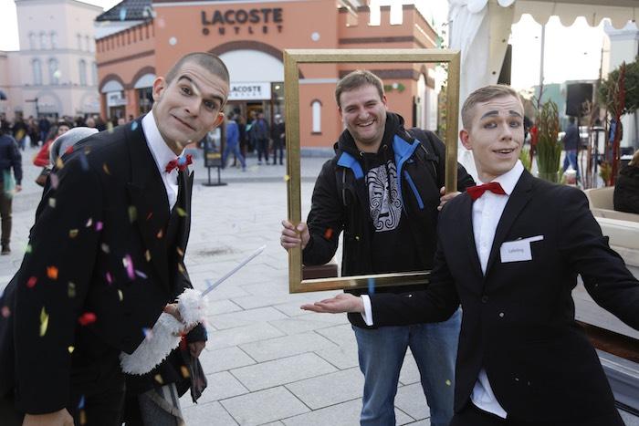Pantomime Visual Comedy Butlers Bilderrahmen Konfetti Wustermark